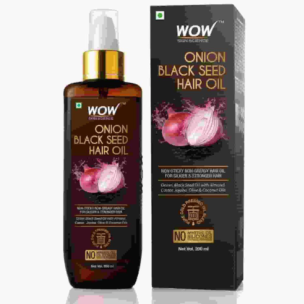 WOW Skin Science Onion Black Seed Hair Oil - Controls Hair Fall